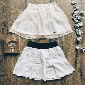 Abercrombie XL Chiffon & Cotton Skirt Bundle